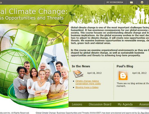Global Climate Change: Business Opportunities and Threats